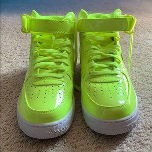 lime green nike high tops
